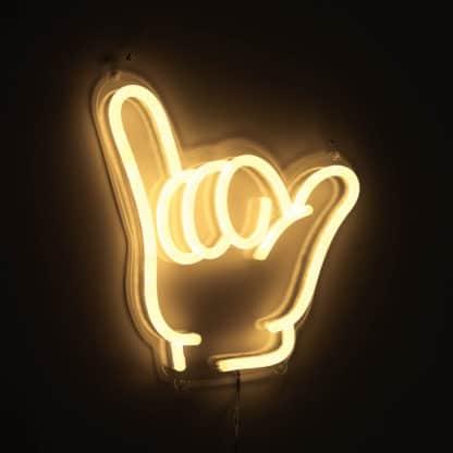 Neon Shaka Hang Loose